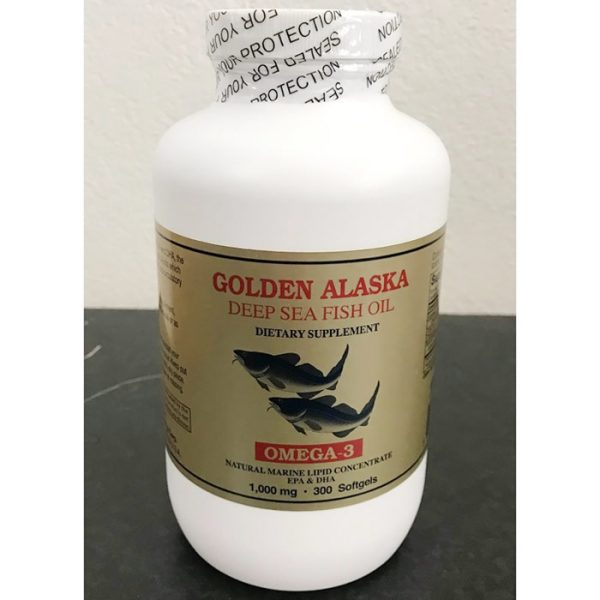 Golden Alaska Deep Sea Fish Oil Omega-3 1000 mg, 300 Softgels, NCB Technology Corp.
