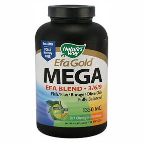 Mega 3/6/9 Omega, 90 Softgels, Nature's Way