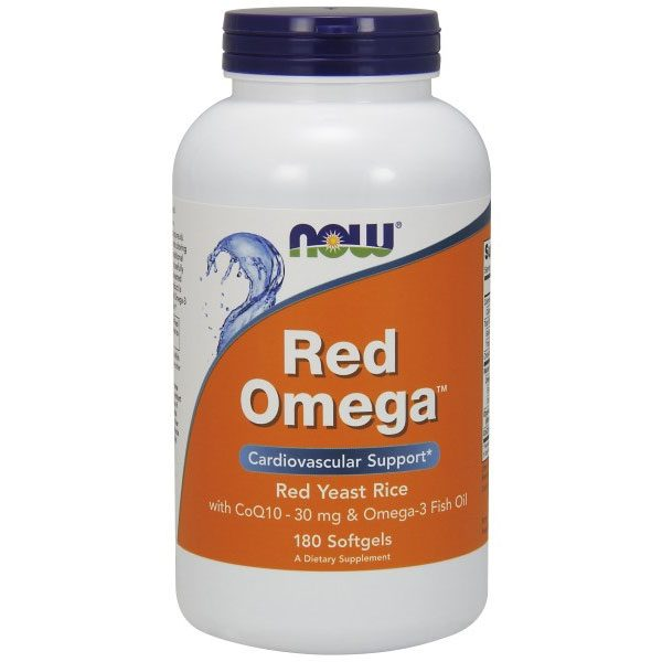 Red Omega (Red Yeast Rice plus CoQ10 & Omega-3), 180 Softgels, NOW Foods