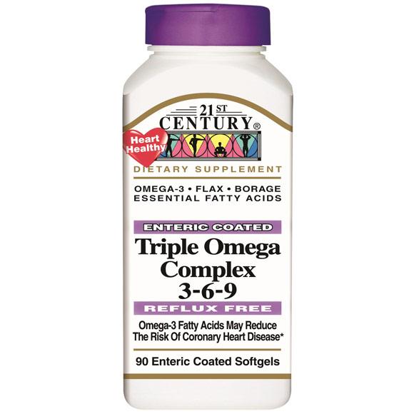 Triple Omega Complex 3-6-9 90 Softgels, 21st Century Health Care