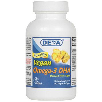 Vegan Omega-3 DHA, 90 Vegan Softgels, Deva Vegetarian Nutrition