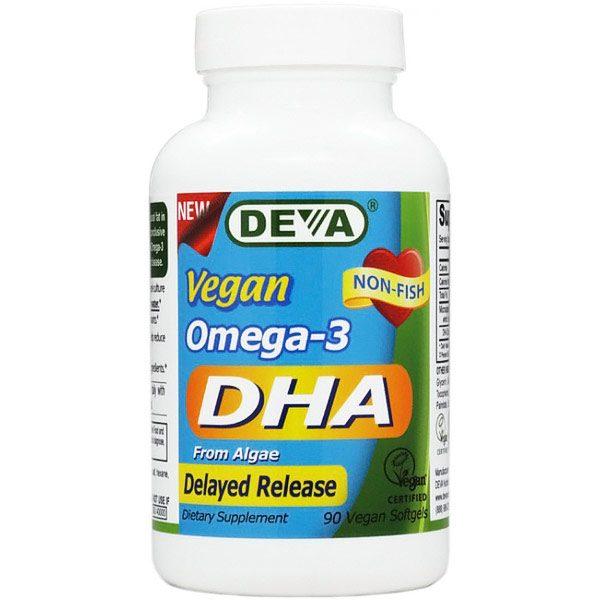 Vegan Omega-3 DHA (Enteric Coated), 90 Vegan Softgels, Deva Vegetarian Nutrition