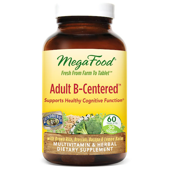 Adult B-Centered, Multi-Vitamin & Herbal, 60 Tablets, MegaFood