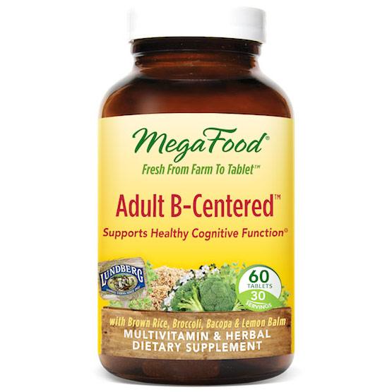 Adult B-Centered, Multi-Vitamin & Herbal, 60 Tablets, MegaFood