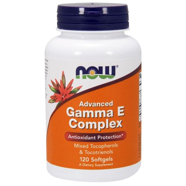 Advanced Gamma E Complex, Vitamin E 120 Softgels, NOW Foods