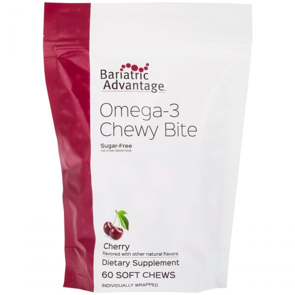 Bariatric Advantage Omega-3 Chewy Bites Cherry (60ct)