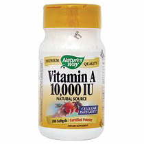 Vitamin A 10,000 IU 100 softgels from Nature's Way