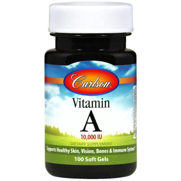 Vitamin A Natural 10,000 IU 250 softgels, Carlson Labs