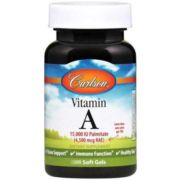 Vitamin A Palmitate 15,000 IU 120 softgels, Carlson Labs