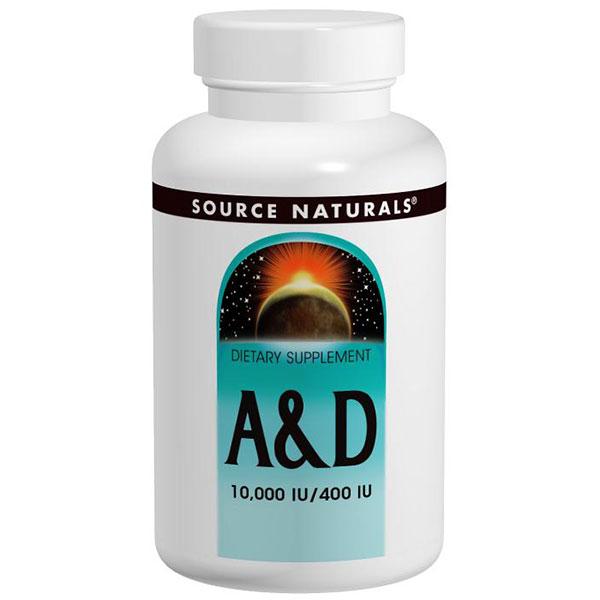 Vitamin A & D 10,000 IU/400 IU 100 tabs from Source Naturals