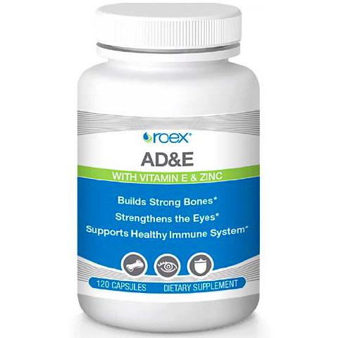 Vitamin A & D3 Formula plus Vitamin E & Zinc, 120 Capsules, Roex