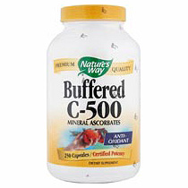 Buffered C-500, Vitamin C Mineral Ascorbates, 250 Capsules, Nature's Approach