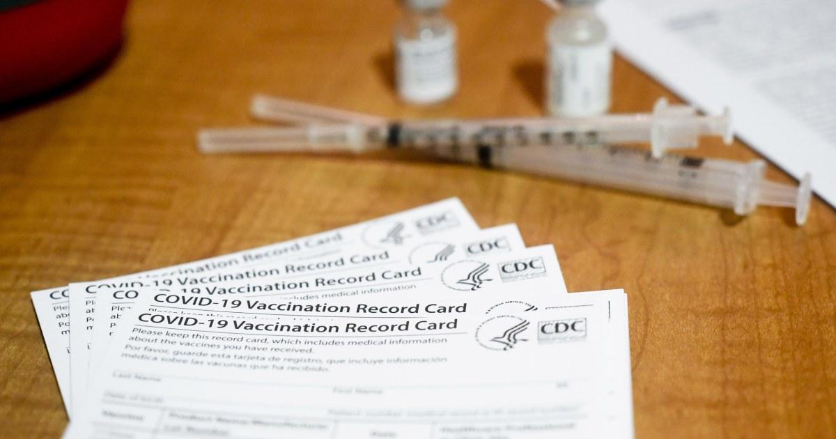 Pretend Covid vaccination card market booms